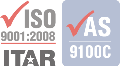 AS9100C, ISO 9001:2008, ITAR Registered